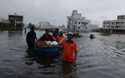 Flood Relief by Disaster Management Team-Chennai