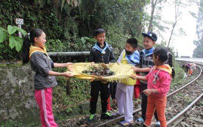 Cleaning of 65 KM Highway -Darjeeling