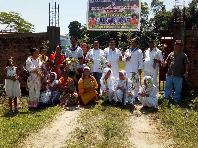 Special Tree sapling distribution on Shaktiswarupini Divas
