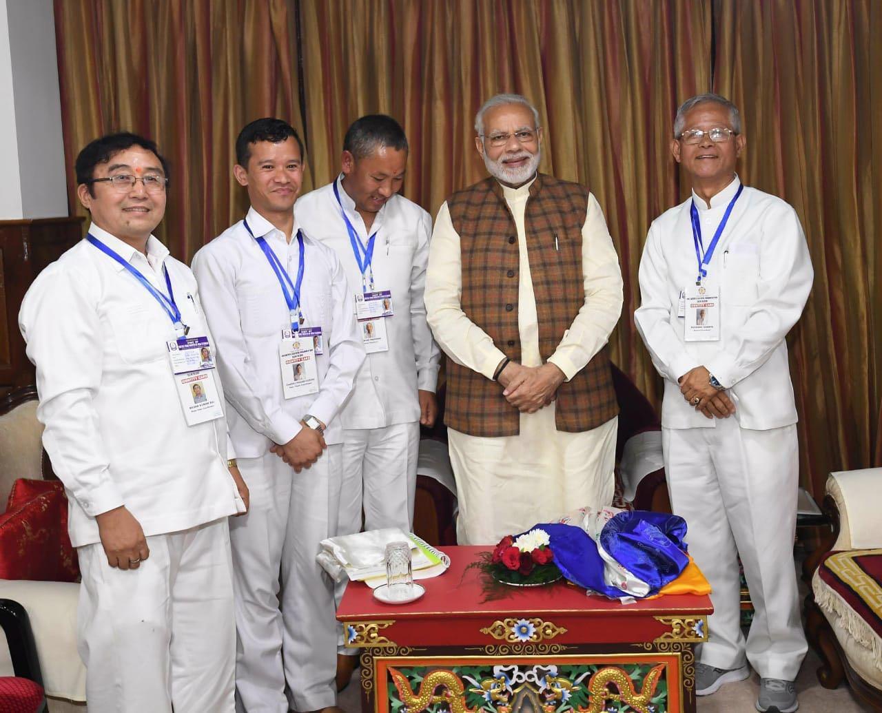Meeting with Prime Minister Sri Narendra Modi ~ SSSSO Sikkim