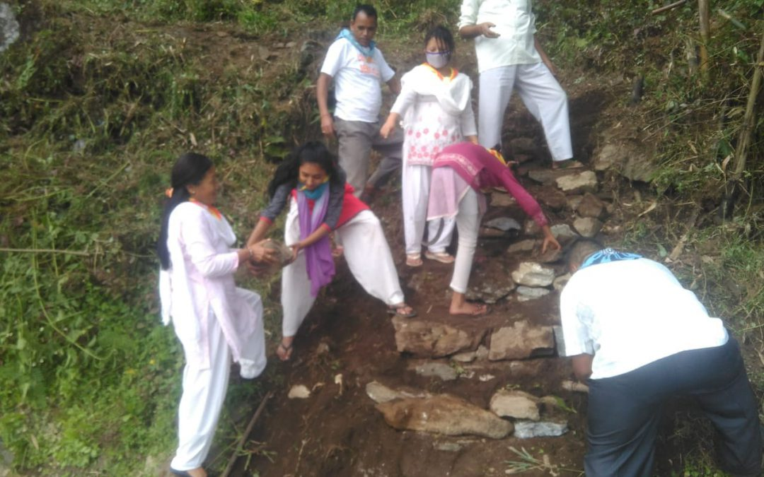 Lingchom samithi of WEST district (Sikkim) does Seva