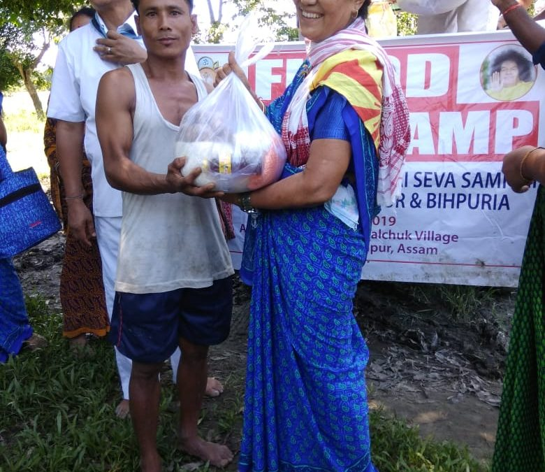 Flood Relief Camp-Assam State-28th July 2019