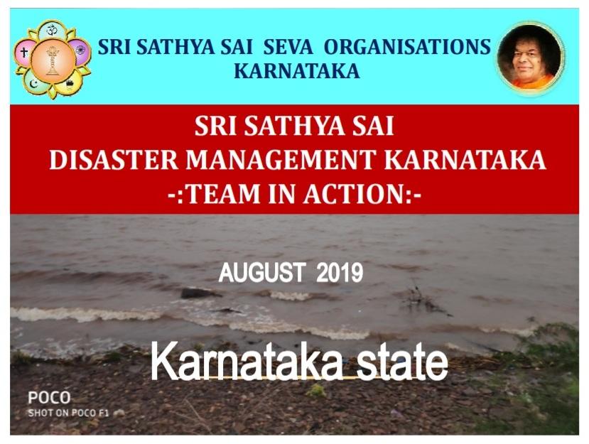 Disaster Management Teams in Action-Floods in Karnataka-July 2019