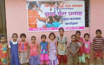 Helping Village Children on Health & Hygiene-Mahila Vibhag-Jharkhand