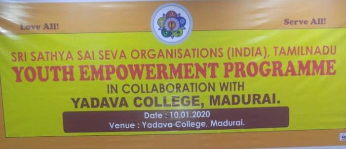 Youth Empowerment Program, District Madurai ~ SSSSO Tamil Nadu